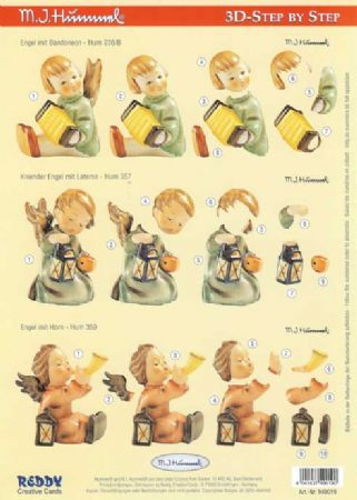 Hummel Angel 3d Decoupage Sheet by Reddy